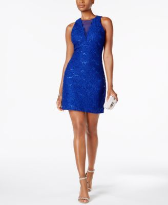428fea685c7 Nightway Sequined Lace Cocktail Dress