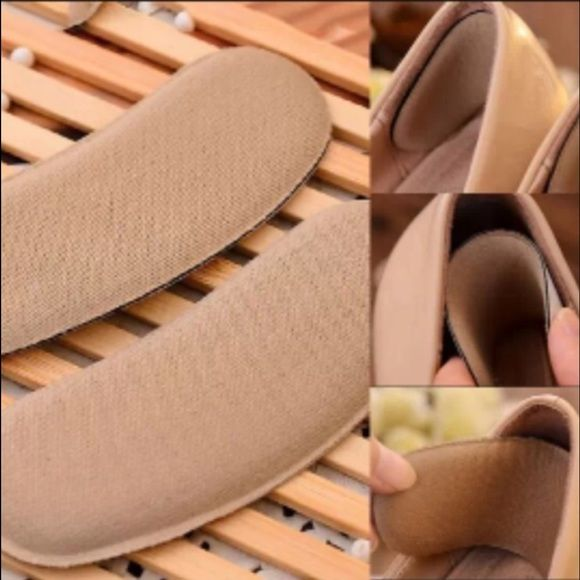 5 Pairs Sticky Fabric Shoes Pads Cushion Liner Grips Back Heel Inserts Insoles