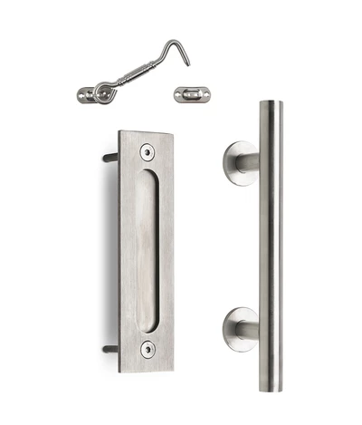 12 Round Barn Door Pull With Flush Plate Latch Stainless Steel Barn Door Handles Barn Door Handles Hardware Door Handles