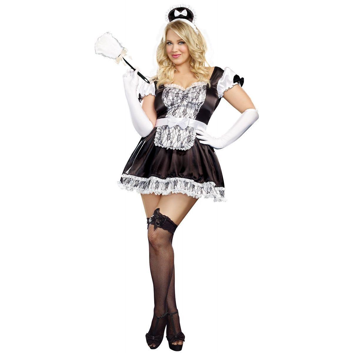 Sexy plus size maid costume