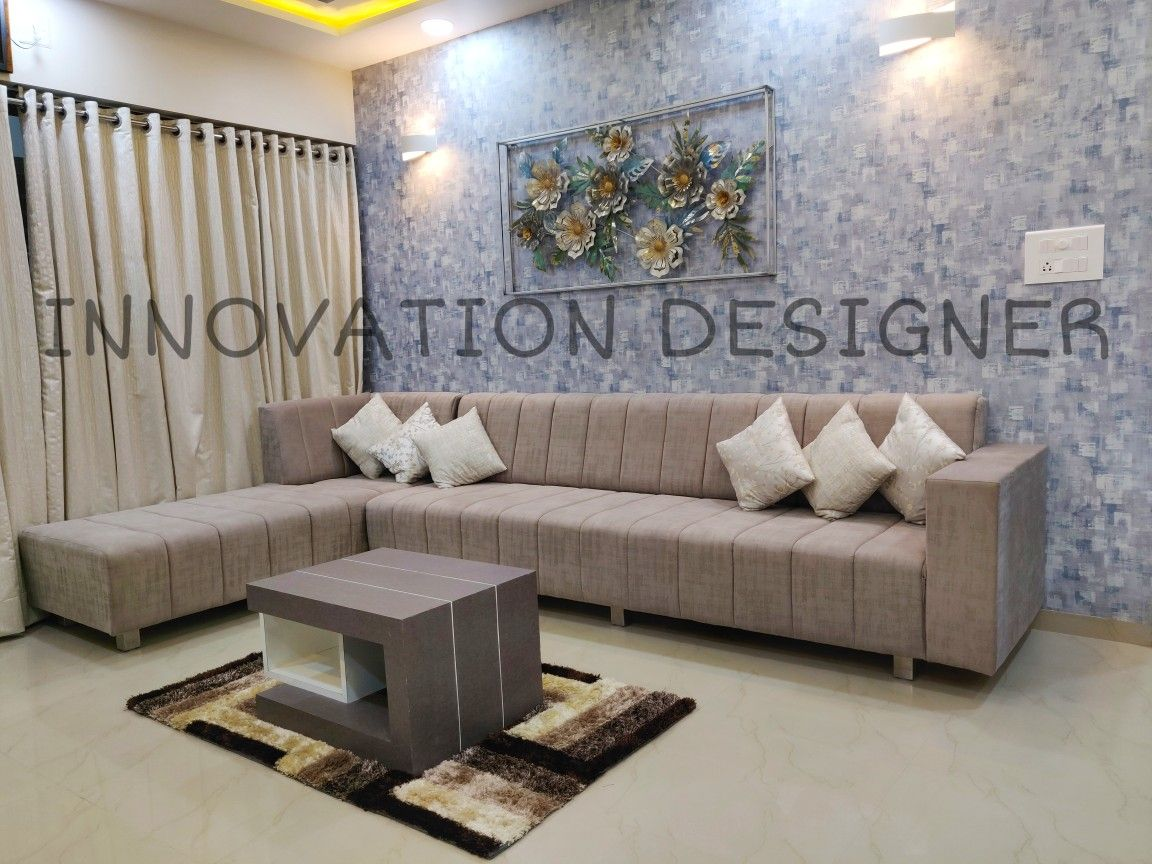 3bhk Apartment Interior By Innovation Designer At Savvy Swaraaj Ahmedabad Flat Interior Apartment Interior Interior