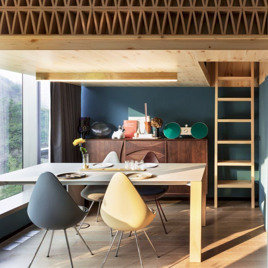 Home Design Ideas Hong Kong: NCDA Designs Wood-screened Loft Bedroom For Tiny Hong Kong