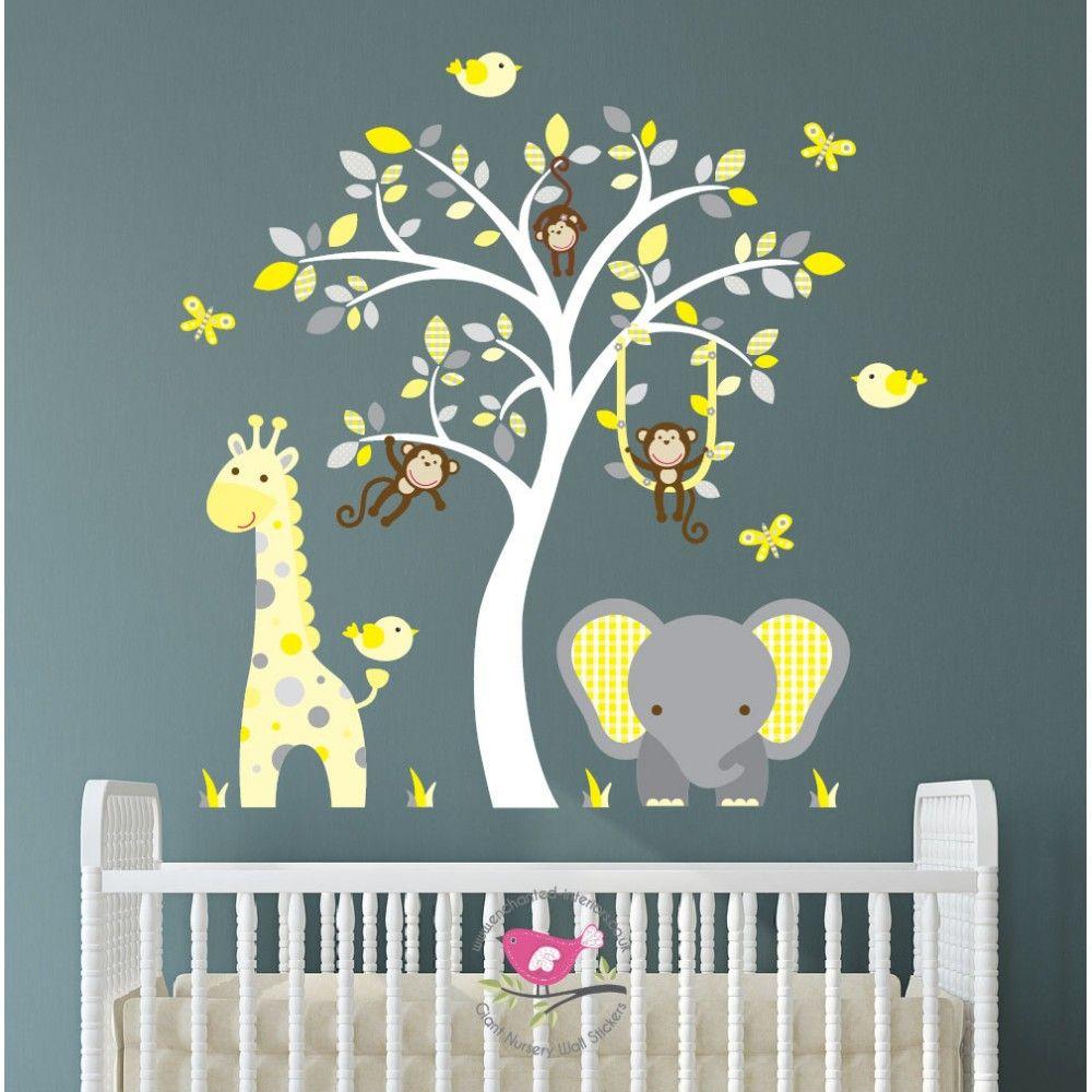 Elephant Giraffe Yellow Grey Nursery 84 95 Http Www Babynotincluded Co Uk Latest Products Html
