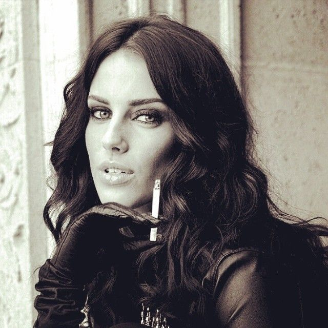Women In Leather Smoking