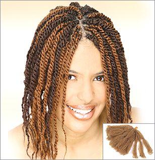 Marley Braid Human Hair | Braids Braided w/Afro Kinky Hair ...