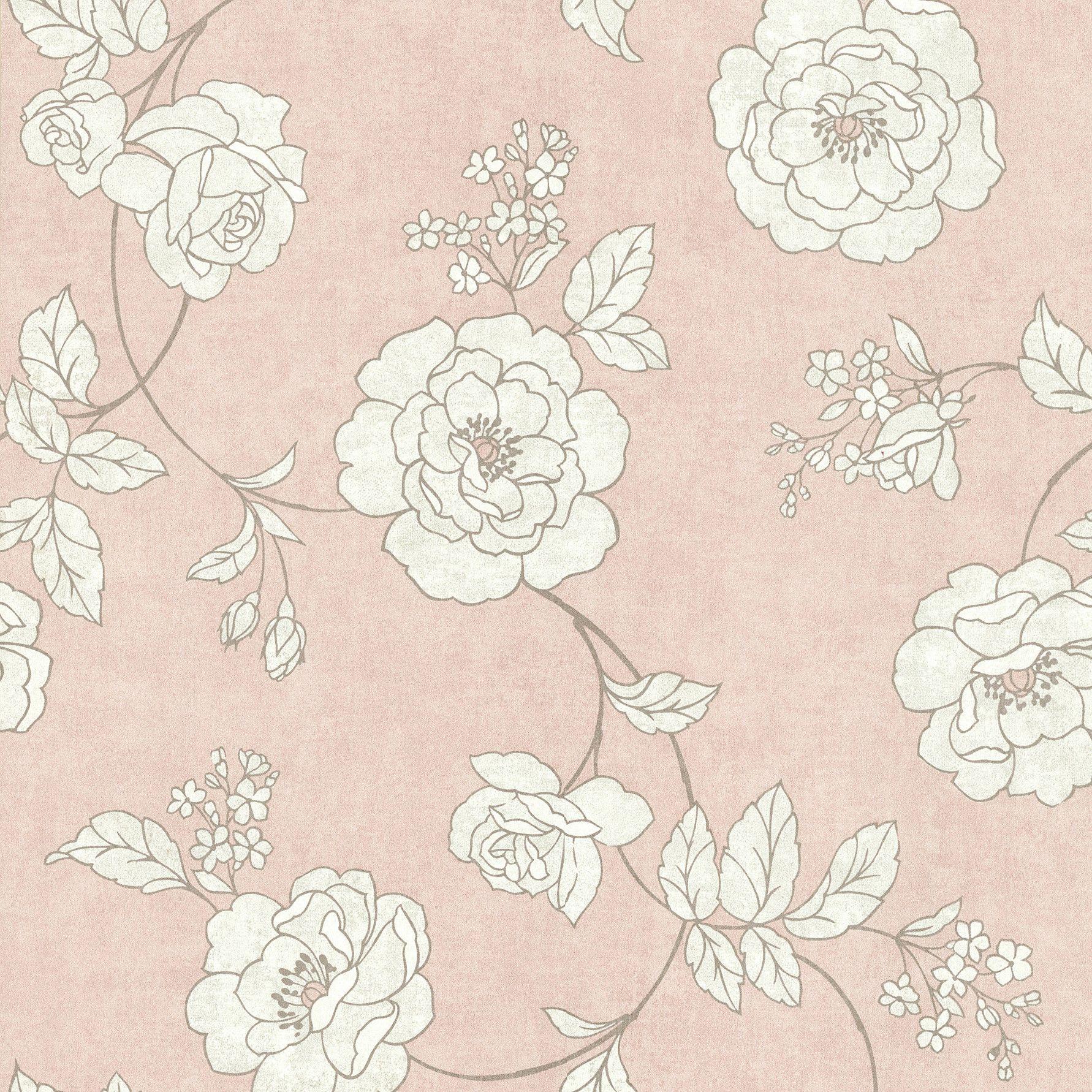 Brewster Home Fashions Serene Rose Wallpaper Wayfair Cake