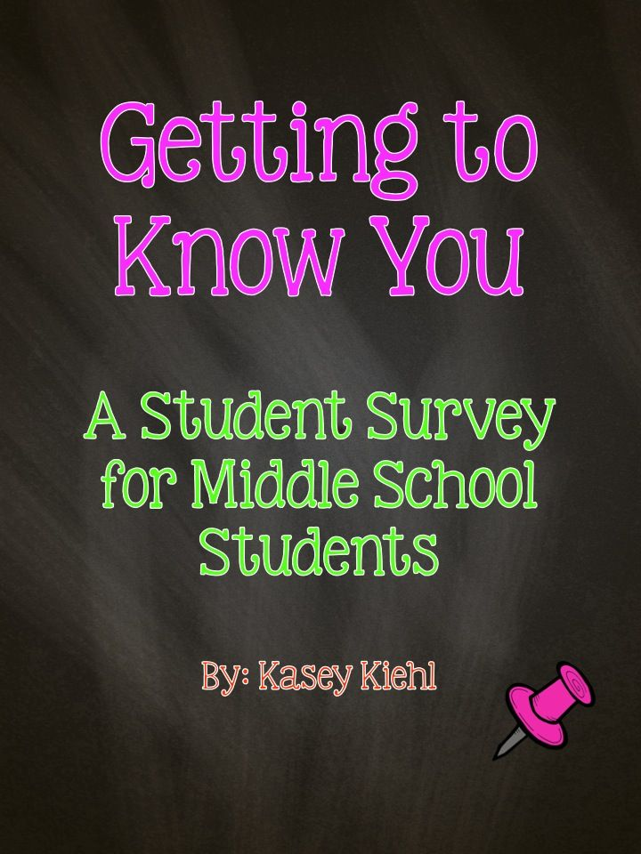 Getting To Know You Student Survey For Middle School This Freebie