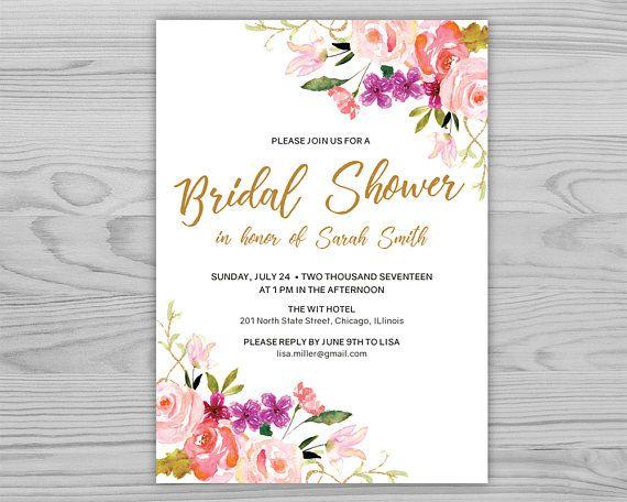 Wedding Shower Invitation Template  Bridal Shower Invitation