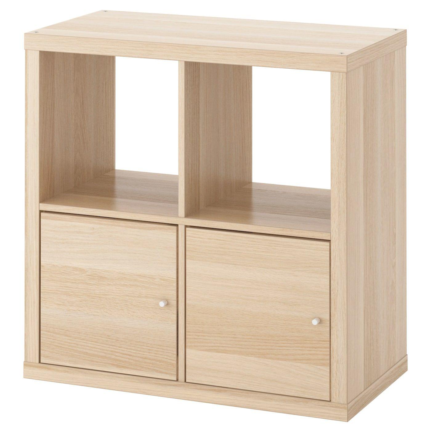 Ikea Regal Mit Turen Kallax Eicheneff Wlas Breite 77 Cm Tiefe 39 Cm Hohe 77 Cm Max Belastung Regalboden 1 In 2020 Kallax Regal Regal Mit Turen Ikea Regal