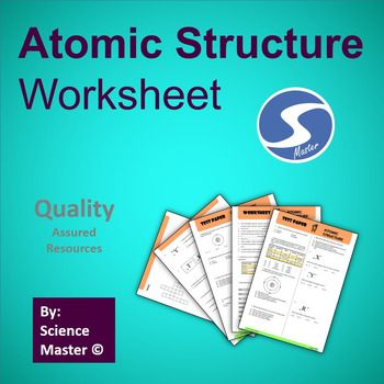 Atomic structure worksheet critical thinking multiple choice and atomic structure worksheet paper contains questions of various types except multiple choice fill in ccuart Choice Image