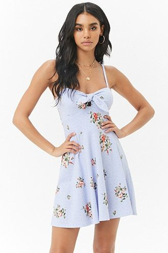 1402a279d0ff Floral Tie-Front Fit & Flare Mini Dress | Products in 2019 | Dresses ...