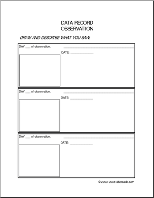 Worksheet: Data Recording - Record your data on an experiment or ...