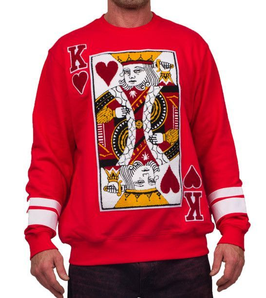D9 Reserve Suicide King Of Hearts Red Long Sleeve Tee Pureatlanta