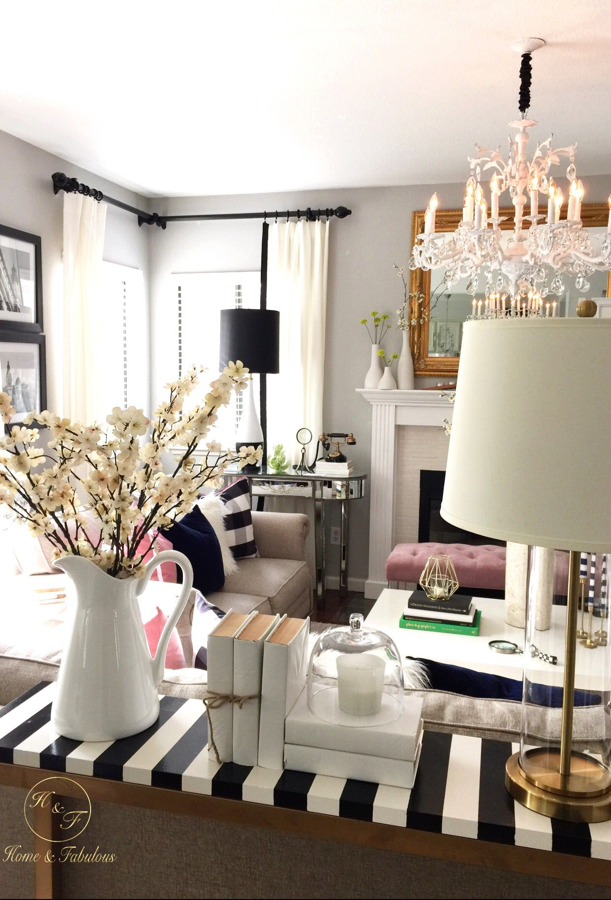 This Living Room Accessorized With Decor From HomeGoods Is Gorgeous