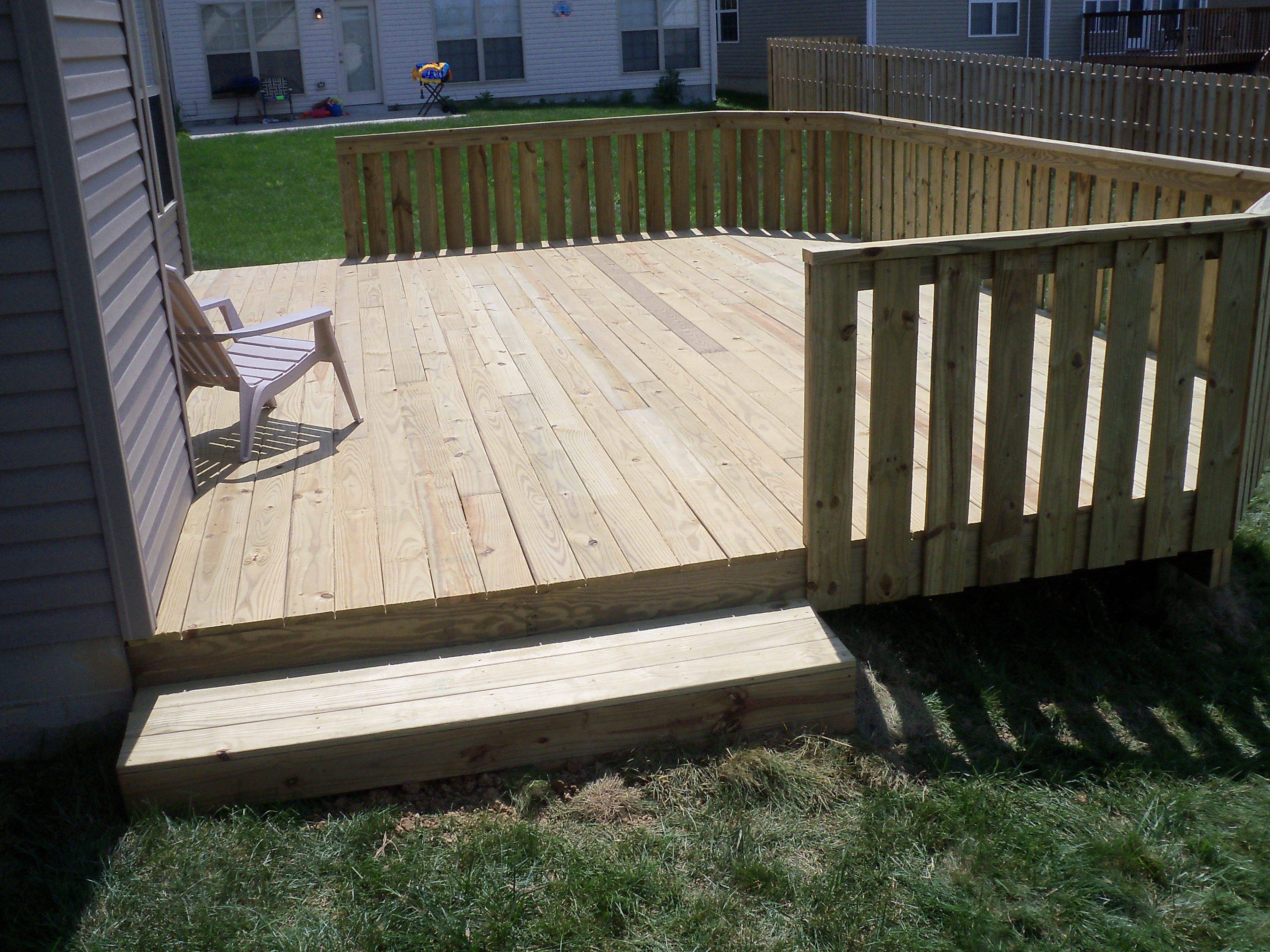 Wood Deck With Fence Boards For Privacy Wood Decks In