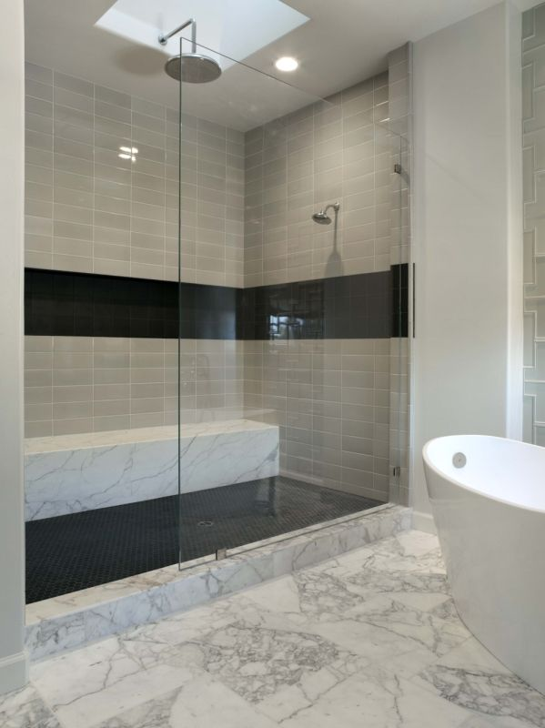 Image Result For Shower With Glass Panel