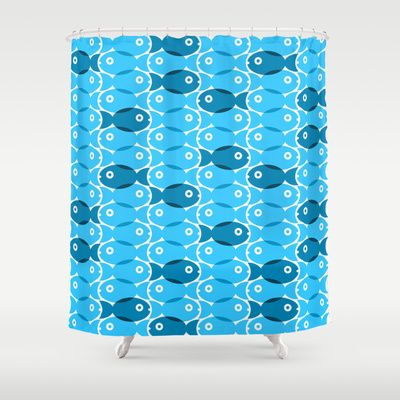 Blue Fish Shower Curtain By Ornaart 68 00 Shower Curtain