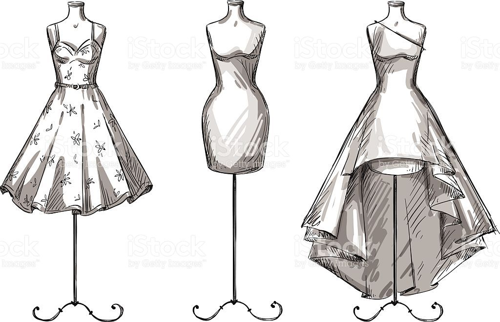 Set Of Mannequins Dummies With Dresses Fashion Illustration Vector Id467858076 1024 660 Fashion Drawing Dresses Dress Design Drawing Dress Design Sketches