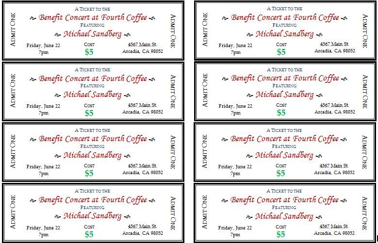 Event tickets are important to design to control the number of - printable ticket template free