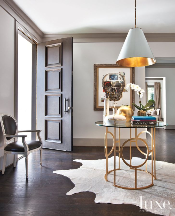 Elegant And Neutral Christmas Foyer: Modern Neutral Game Room With Yellow Armchairs