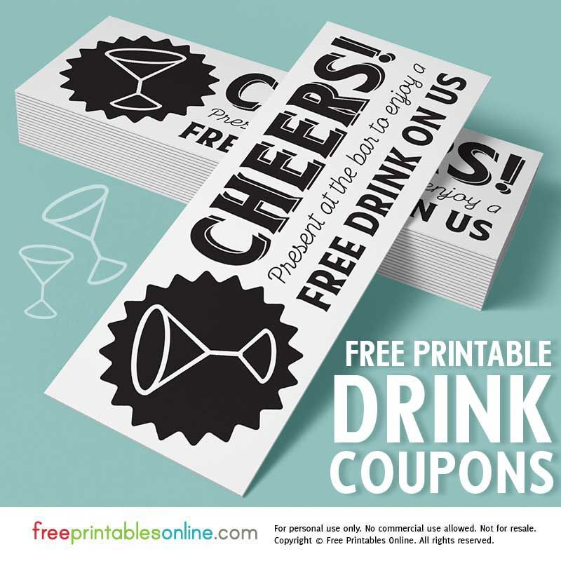 complimentary drink ticket template - cheers free drink on us tickets cheer free and reception