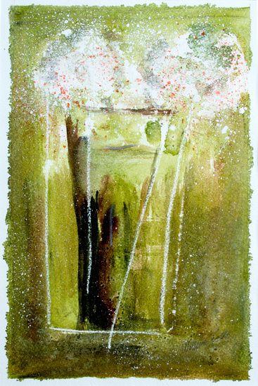 Neu in meiner Galerie bei OhMyPrints: Wei�e Bl�ten - abstrakt