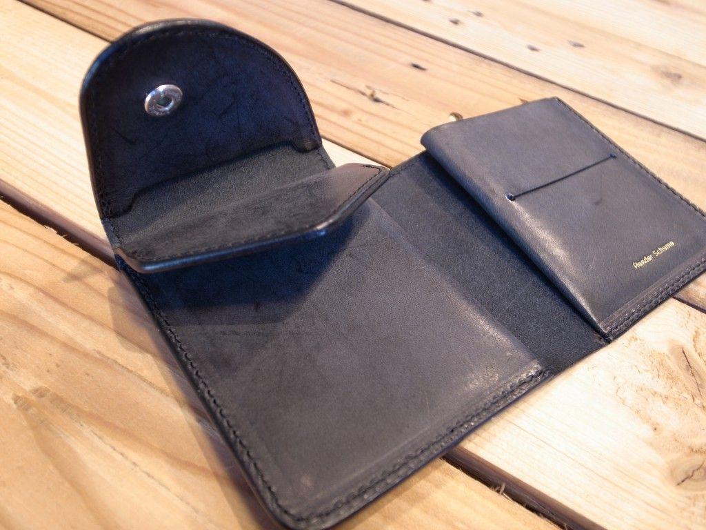 Hender Scheme Black Leather Wallet レザーの財布 と レザー