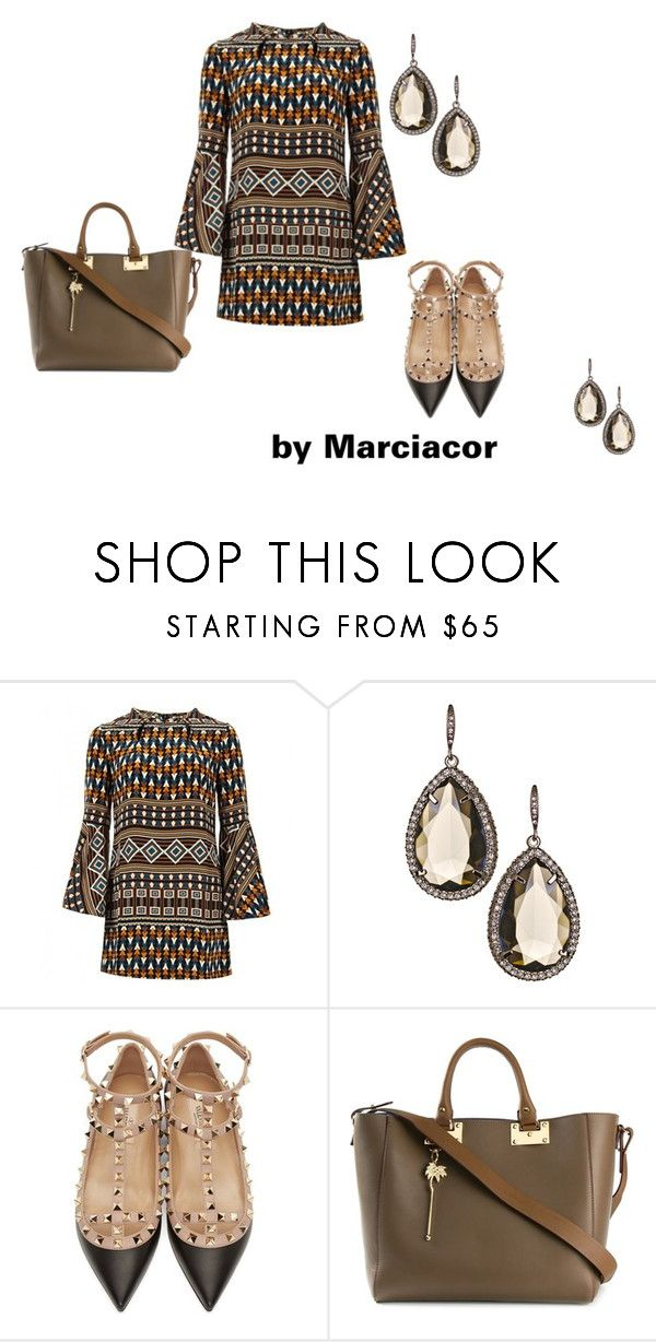 reunião by marciacor on Polyvore featuring moda, Gucci, Valentino, Sophie Hulme and ABS by Allen Schwartz
