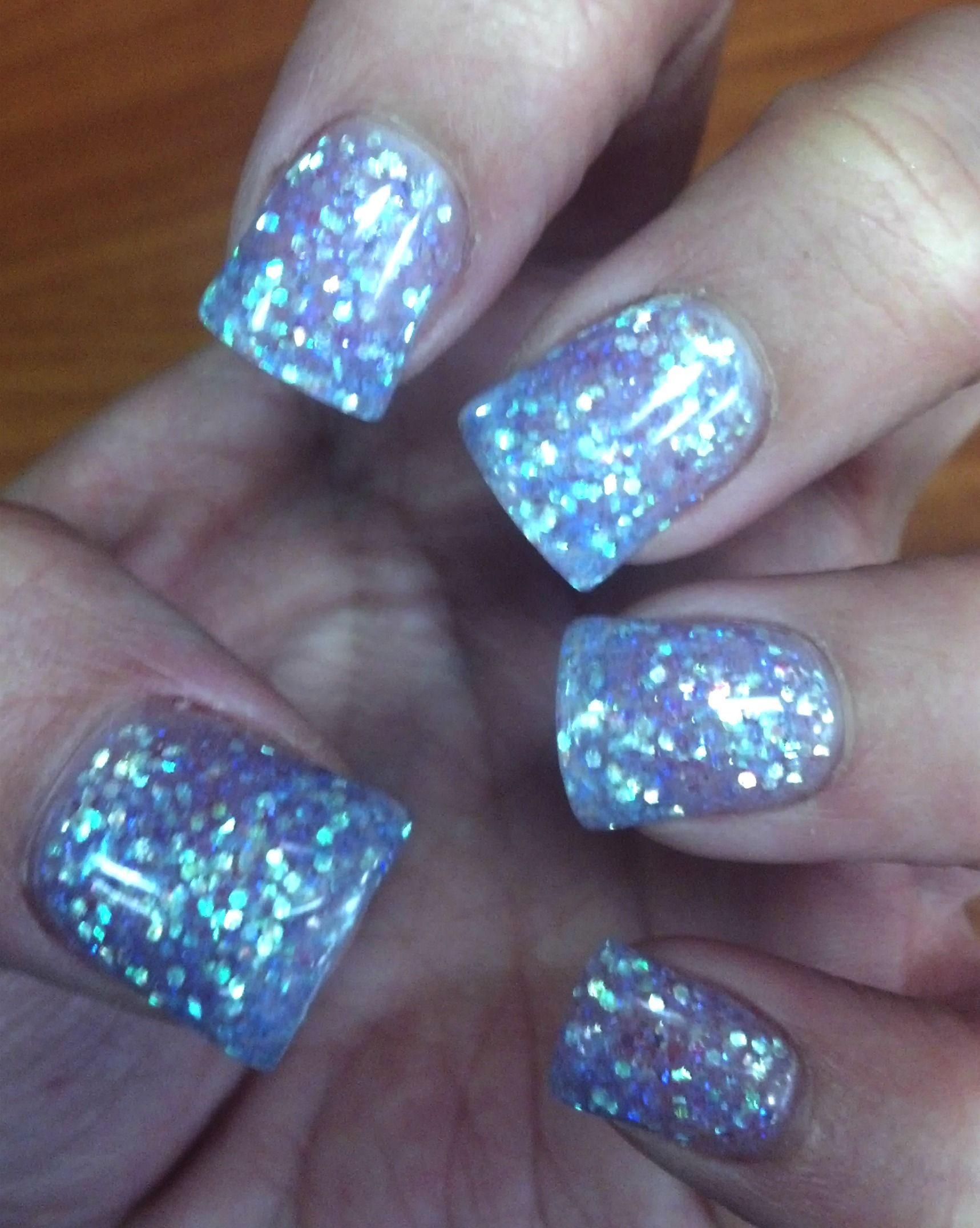 My finger nails look like a disco ball, but I guess they look okay ...