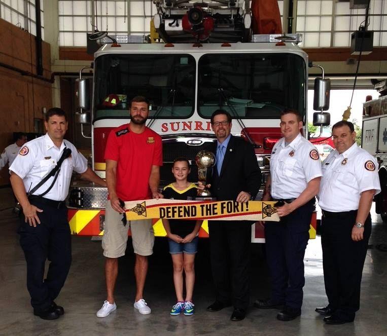 The Mayor\u0027s Cup trophy visited Mayor Mike Ryan, City of Sunrise
