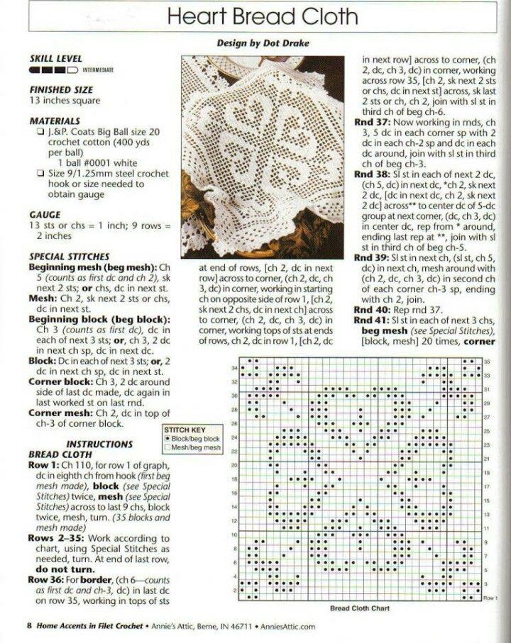 Picasa Web Albums. Filet crochet bread cloth | crochet red ...