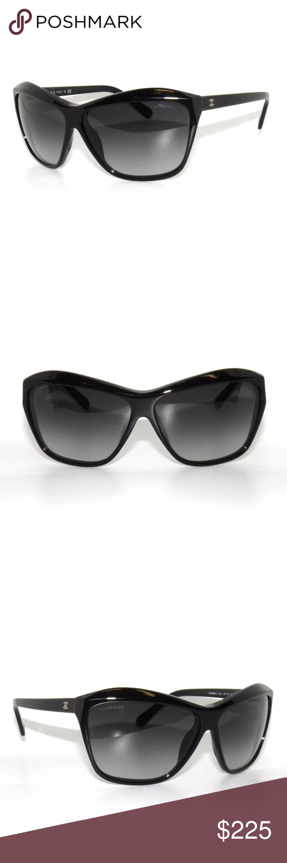 284437c119149 Chanel 5153 Black and Grey Gradient Sunglasses Excellent condition ...