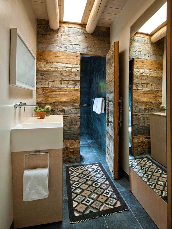 30 ideas de decoración para baños rústicos pequeños Rustic chic