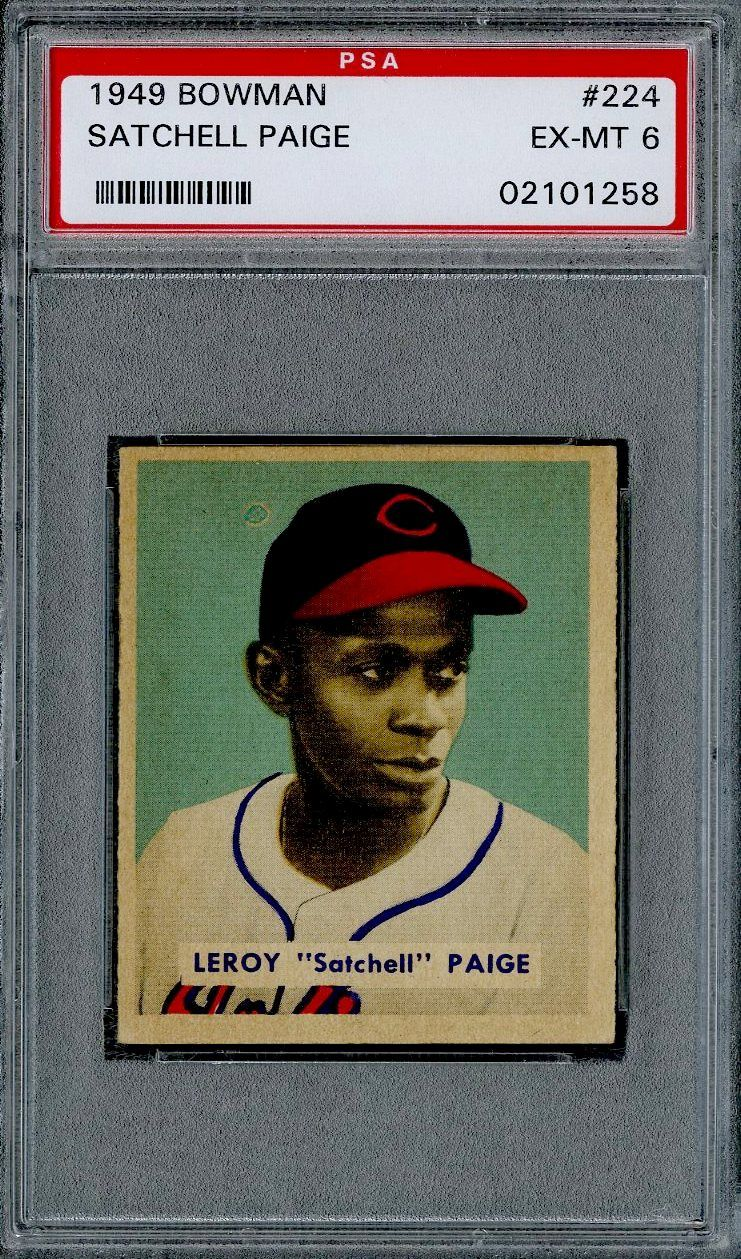 Satchel Paige Graded Rookie Card 1949 Bowman Baseball
