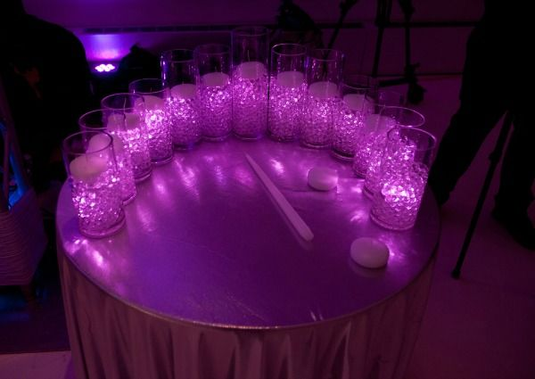Purple Led Candle Lighting Featuring Glowing Candles At Bat