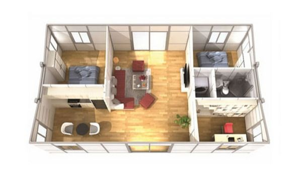 Plano planta casa prefabricada instantslide rocio pinterest - Casas prefabricadas de contenedores ...