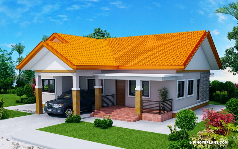 Agustin Spacious Three Bedroom Elevated House Concept Pinoy Eplans Bungalow House Design Modern Exterior House Designs Model House Plan