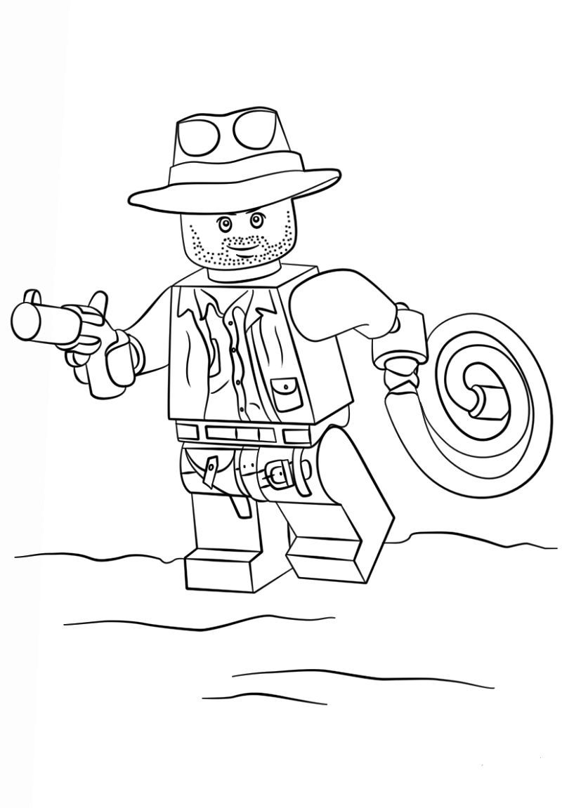 Indiana Jones Coloring Pages Lego (Dengan gambar) | Warna
