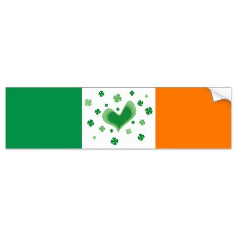 St patricks day bumper sticker with irish flag stpatricksday bumper stickers