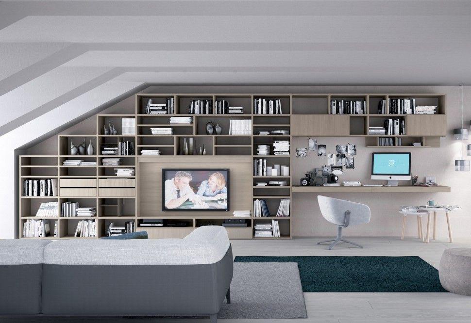 Libreria Tiglio, Grigio londra | Colombini | render | Pinterest ...