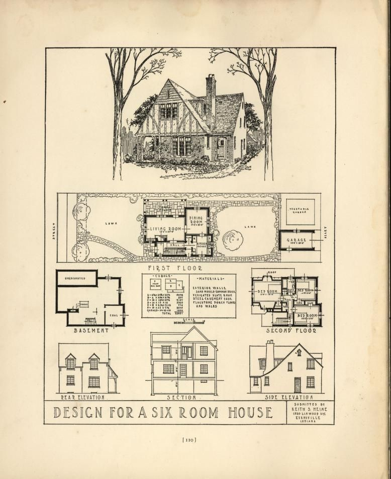 chicago home blueprints. Chicago tribune book of homes  House Plans 1900 1930s