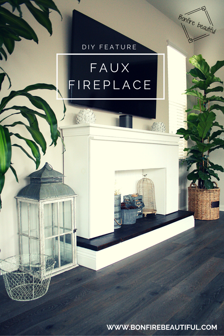 Diy faux fireplace faux fireplace mantle and remedies