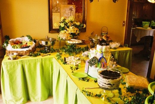 Baby Shower Buffet Table Decorations Set Up Bridal Shower Food