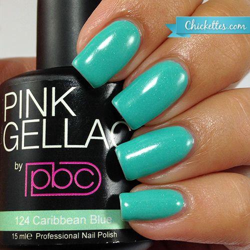 124 Pink Gellac Caribbean Blue