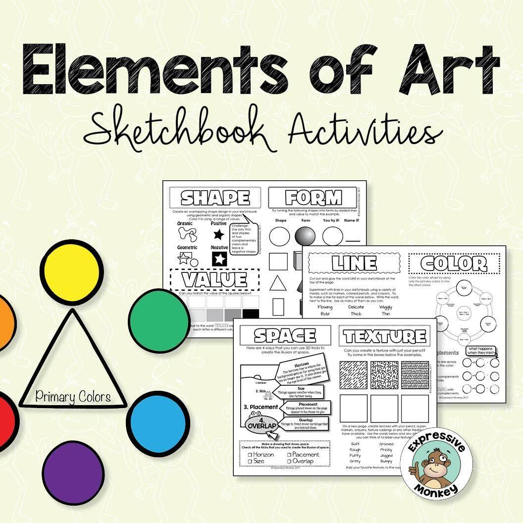 Elements Of Art Sketchbook Activities In