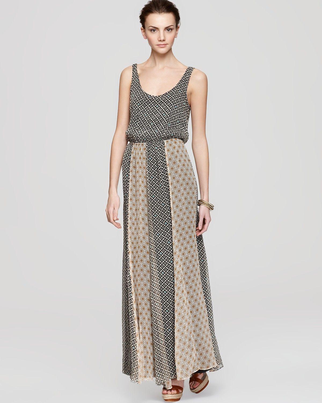 cdef70df7c546 Ella Moss Dress - Sun Tile Contrast Print Maxi | Bloomingdales ...