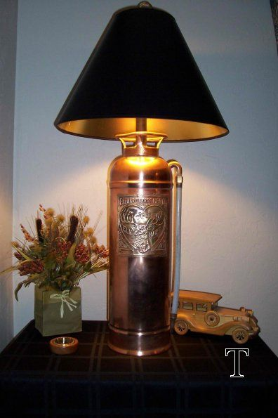 Vintage Fire Extinguisher Lamp Oh My Goodness I Bought