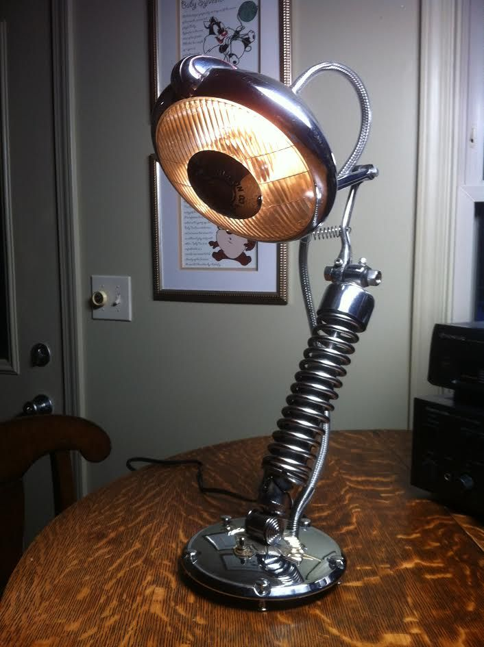 Chrome Headlight Lamp Automotive Decor Steampunk Lighting Car Part Furniture