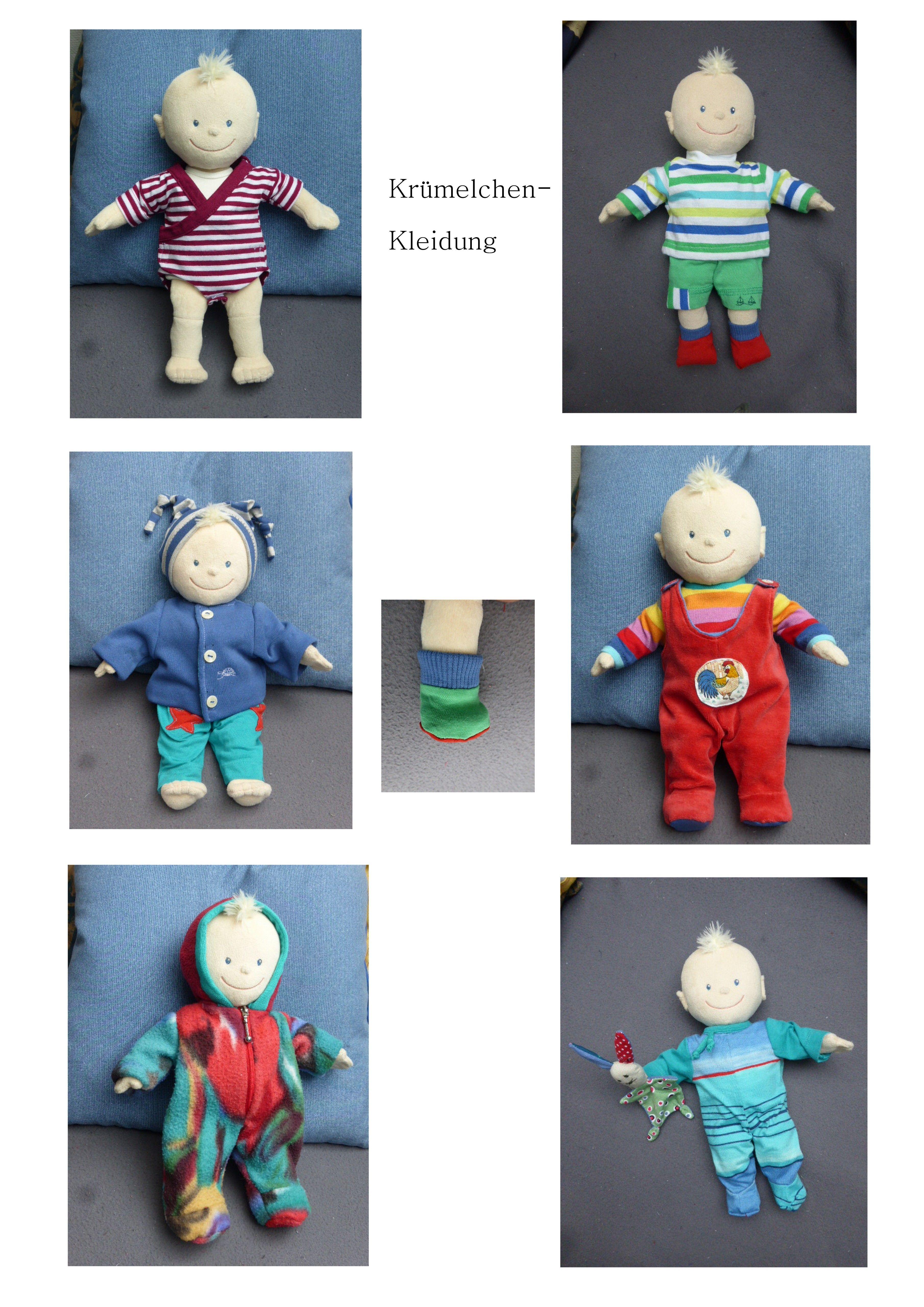 Krümelchen Puppenkleidung Schnittmuster Puppe 35cm | Puppenkleidung ...
