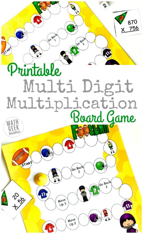 Simple Multi Digit Multiplication Game Free Math Geek
